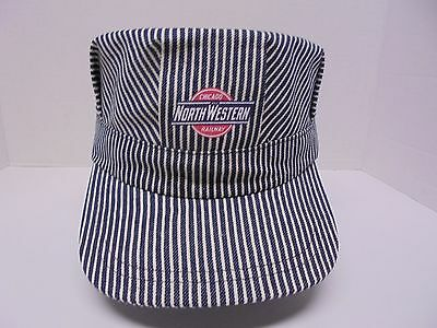 Engineer Cap Blue and White Stripe Chicago North Western Railway