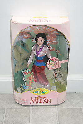Rare Disney Mulan Classic Doll Collection with Green Soldier Outfit  New