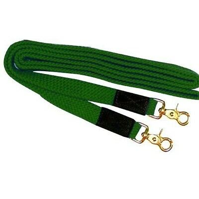 Intrepid International NEW Flat Nylon Braided Reins 8' with Trigger Snap Leather