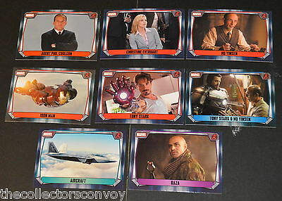 Topps MARVEL MISSIONS Trading Card Game - IRON MAN Movie cards