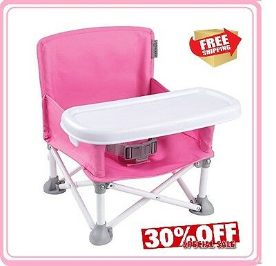 New Summer Infant Pop Kids Sit Portable Booster Pink Free Shipping