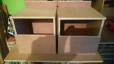 2 X Finch half open nest boxes ,bengalese,zebra,star,foreign Free P&P