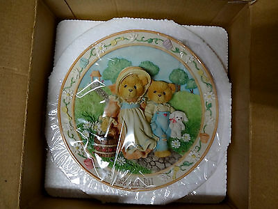 1994 Cherished Teddies Jack And Jill Nursery Rhyme Plate - 114901