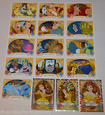 Topps Disney Princess Trading Card Game BEAUTY AND THE BEAST Set (16 cards)