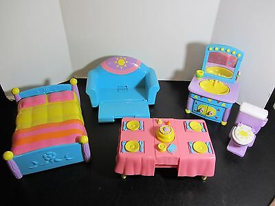 Dora The Explorer Playtime Together Dollhouse FURNITURE Bathroom COUCH Table Bed