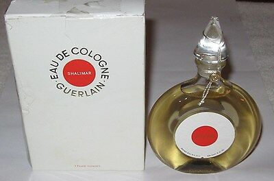 Vintage Guerlain Shalimar Perfume Bottle/Box Cologne 3 OZ 90 ML - Sealed - Full