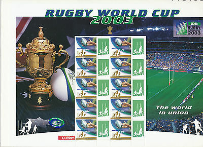 Australian Stamps: 2003 Rugby World Cup Stamp Sheetlet