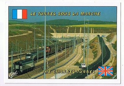 The French Railroad Terminal - The Channel Tunnel  - Postcard # 580 R