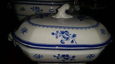 SPODE Gloucester Blue Copeland Floral Vegetable/Casserole Covered Dish w/ Lid