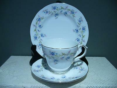 Duchess Bone China 'tranquility' Trio - Cup Saucer Plate - England - Reas Cond