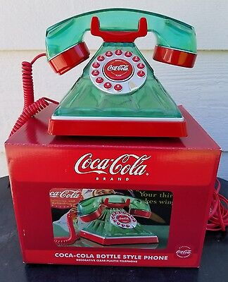 New In Box Coca-Cola Brand Bottle Style Collectable Phone