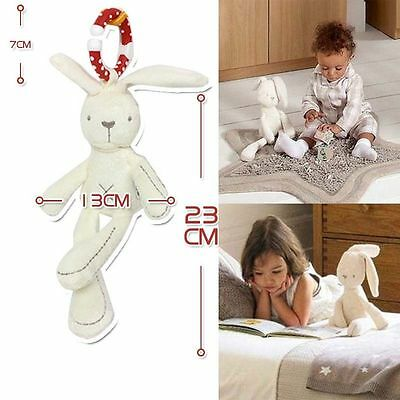 New Cradle Toy Hanging Rattle Baby Plush Soft Cotton Toy Rabbit Musical Toy