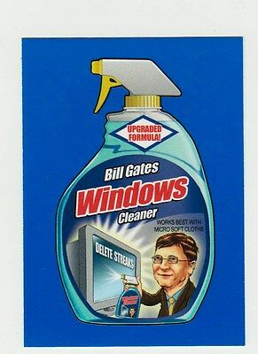 2017 Wacky Packages 50th Anniversary Blue Sticker Card -WINDOWS-