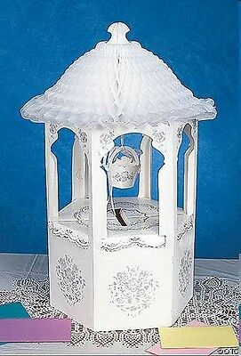 Wishing Well Card Holder In White & Silver Great For Weddings, Engagements