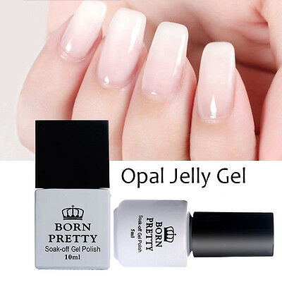 5/10ml BORN PRETTY Opal Jelly Gel White Soak Off  UV Gel Nail Polish