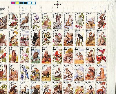 US Sheet MNH #2286-2335 North American Wildlife, 22 Cent,  a187