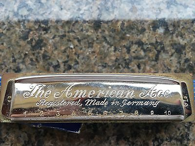 Vintage FR. Hotz German Harmonica The American Ace Harmonica Paris Expo. 1900