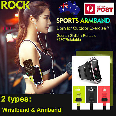 AU S8 + iPhone 7 7 Plus 6 6S ARMBAND WRIST CASE,GENUINE ROCK GYM SPORT RUNNING