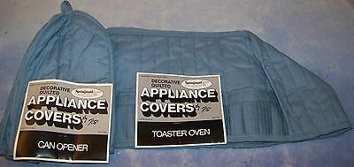 SPRINGMAID decorative quilted CAN OPENER & TOASTER OVEN appliance COVERS made US