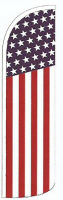 AMERICAN USA  WINDLESS BANNER FLAG Advertising Sign Feather Swooper
