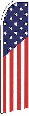 Feather Flutter Swooper Banner Sign 11.5' Tall Flag- USA US AMERICA-On Sale!