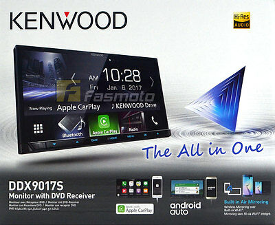 """Kenwood DDX9017S 7"""" WiFi Apple CarPlay Android Auto DVD Double DIN Car Stereo"""