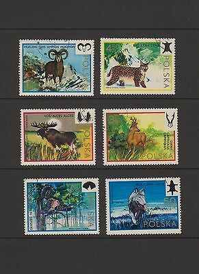 Poland - Complete set of 6 Animal Stamps  ( Lot 30 )