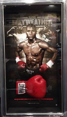 Floyd Mayweather Hand Signed Framed Boxing Glove Limited Edition Backdrop Coa