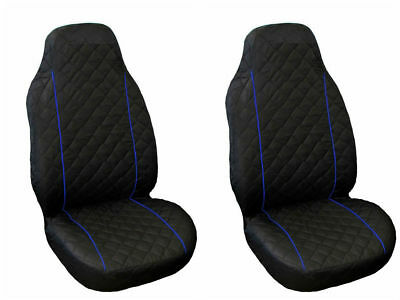 Seat Covers Volkswagen VW Golf Passat 2 3 4 5 Sharan Bora Polo Caddy BLUE PIPING