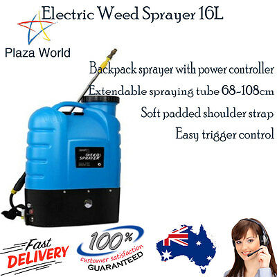Electric Weed Sprayer Spray Rechargeable Backpack Farm Garden Pump 12V 16L