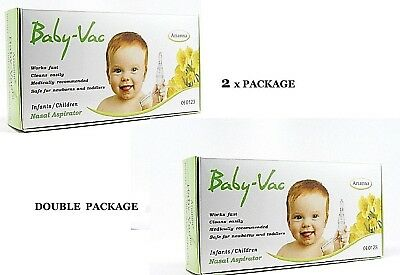 BABY-VAC NASAL ASPIRATOR  2XBABY-VAC DOUBLE VALUE DEAL   Medically recommended