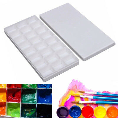 24 Grids Large Art Paint Tray Artist Oil Watercolor White Plastic Palette Supply