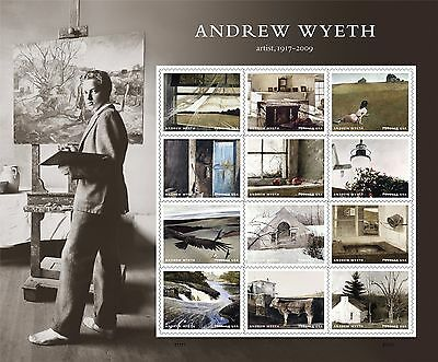 US Andrew Wyeth forever sheet MNH 2017 after July 19