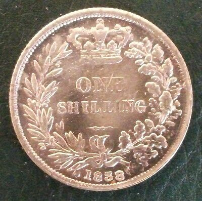 1838 Victoria Shilling, Copy, (FREE UK POSTAGE AVAILABLE)