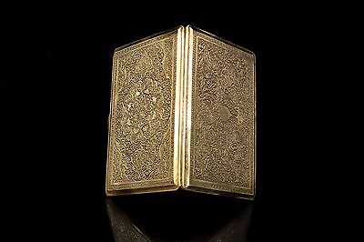 Antique Original Perfect Silver Handmade Persian Silver Cigarette Case