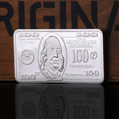 100 Dollars United States Of American Silver Plating Commemorative Coin Crafts