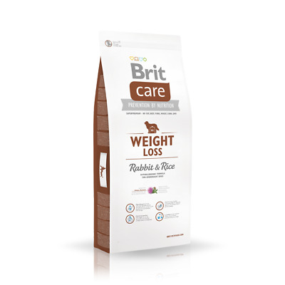12kg Brit Care Weight Loss Rabbit & Rice Hundefutter