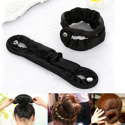 Girls Women DIY Hair Styling Donut Former Foam French Twist Magic Tool Bun Maker