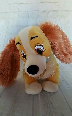 """Authentic Disney Store Lady And The Tramp """"Lady"""" 14 inch Plush Soft Toy VGC"""