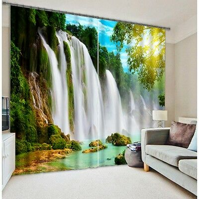 Waterfall Scenic 3D Blockout Photo Mural Printing Curtain Draps Fabric Window A7