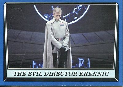 Star Wars Rogue One Mission Briefing Blue Base Card #107 The Evil Director Kren