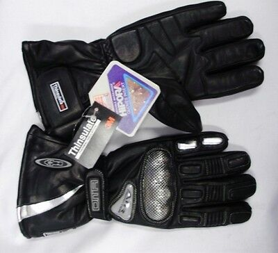 MOTORCYCLE LEATHER WATERPROOF WINTER GLOVES, NEW LG Thinsulate warm  rrp $119