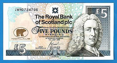Royal Bank Of Scotland, £5 (Pounds) 2005 Jack Nicklaus - Unc