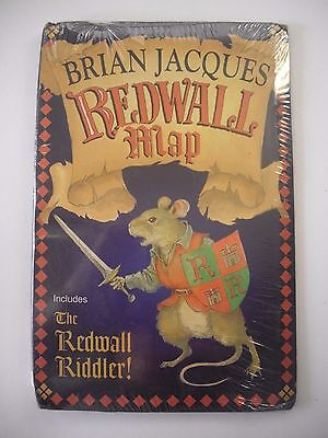 Redwall Map By Brian Jacques (Paperback,1997)