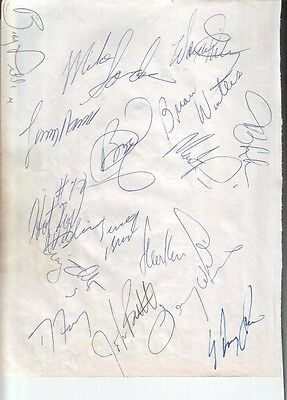 1992 Cleveland Cavaliers Autographed Page by 16 w/ Steve Kerr Bobby Phills D.00