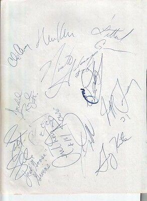 1992 Pittsburgh Penguins & Magic Autographed Page by 23 w/ Shaquille O'Neal