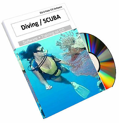 Scuba Diving Diver Training Dive Mask Fins Snorkeling Underwater Course CD Book