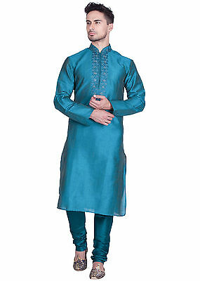 Churidar Ethnic Wedding Readymade Designer Indian Kurta Bollywood Men's Sherwani