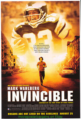 INVINCIBLE MOVIE POSTER DS 27x40 Original 2006 MARK WAHLBERG FOOTBALL FILM