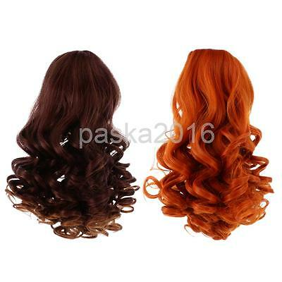2pcs Deep Curls Wig Wavy Curly Hair for 18'' American Girl Doll Making #5+#6